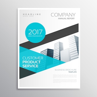 Bright blue corporate business flyer design