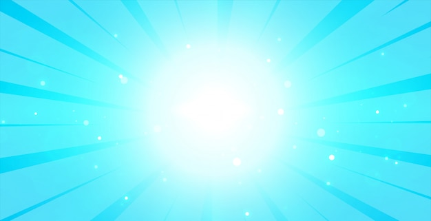 Bright blue glowing background with lcenter light