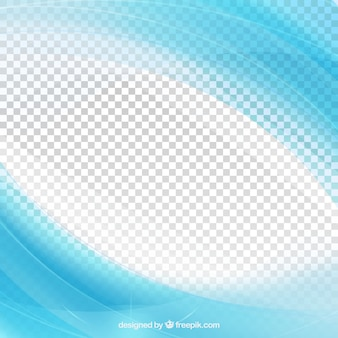 Bright blue waves abstract background
