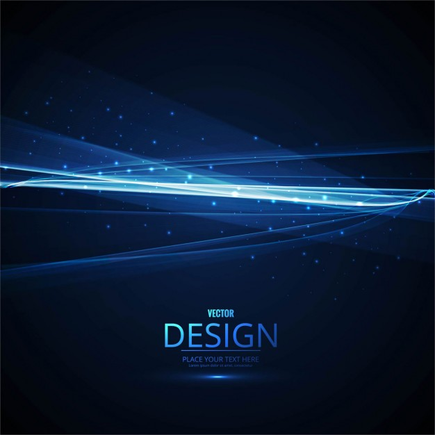Bright blue wavy background with lights