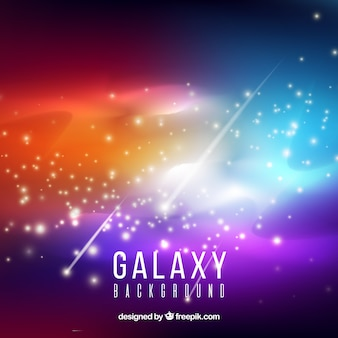 Bright colorful galaxy background