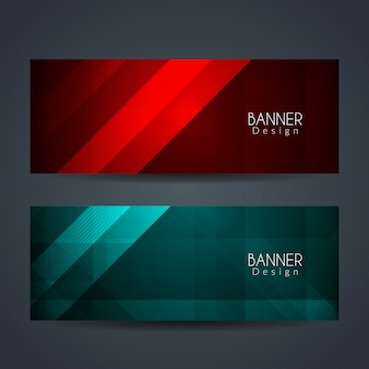 Bright colorful modern banners design