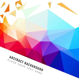 Bright colorful polygonal background