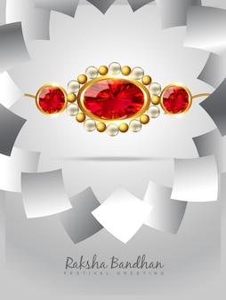 Bright design for raksha bandhan