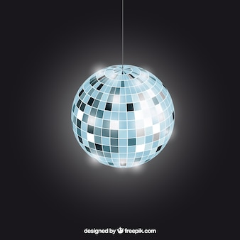 Bright disco ball