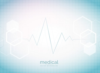 Bright electrocardiogram background