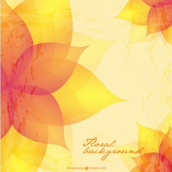 Bright floral vector background