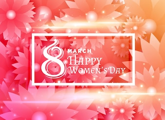 Bright floral woman day background