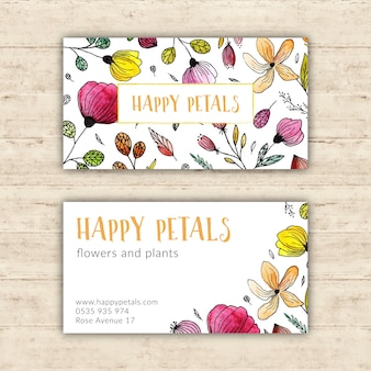 Bright flower shop business card