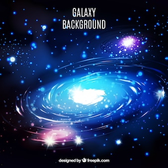 Bright galaxy background