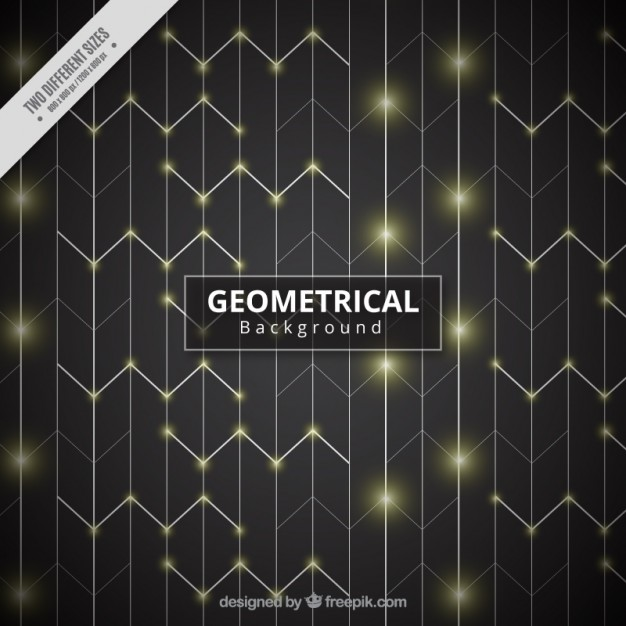 Bright geometrical background