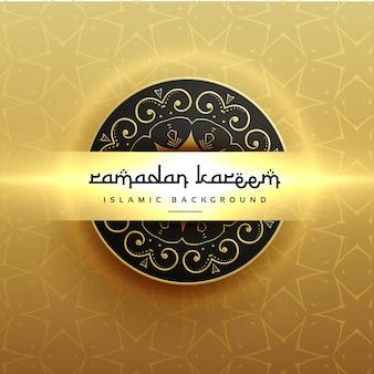 Bright golden background of ramadan kareem