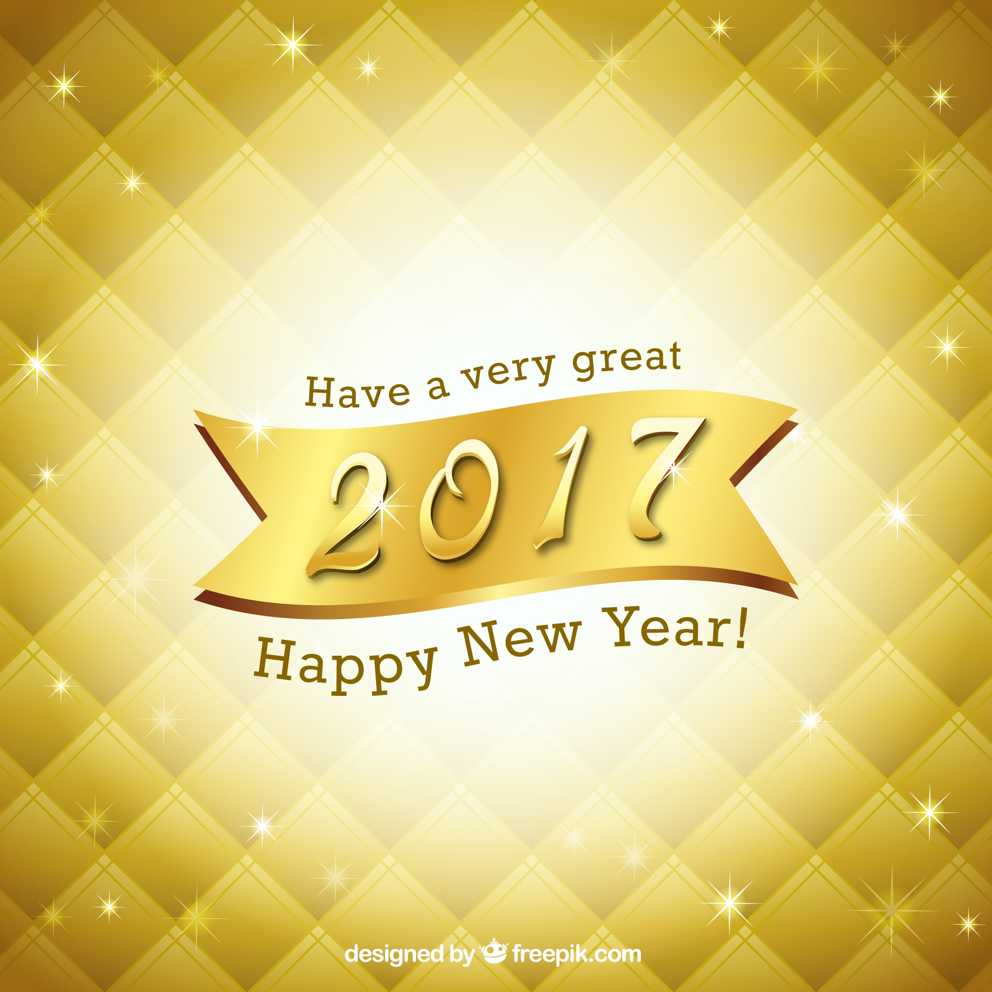 Bright golden new year background