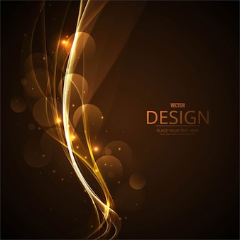 Bright golden wavy background