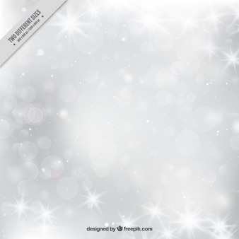 Bright gray winter bokeh background
