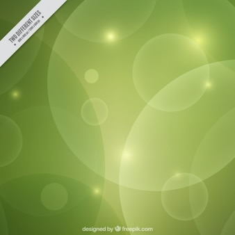 Bright green abstract bokeh background