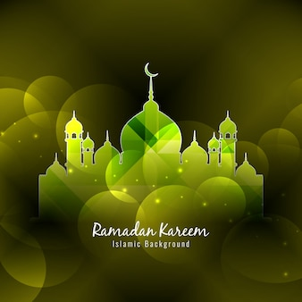 Bright green background of ramadan kareem