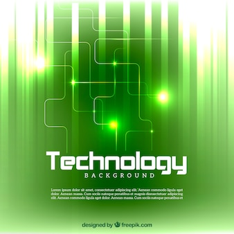 Bright green technology background