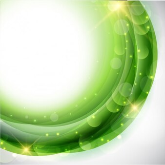 Bright Green Waves Background