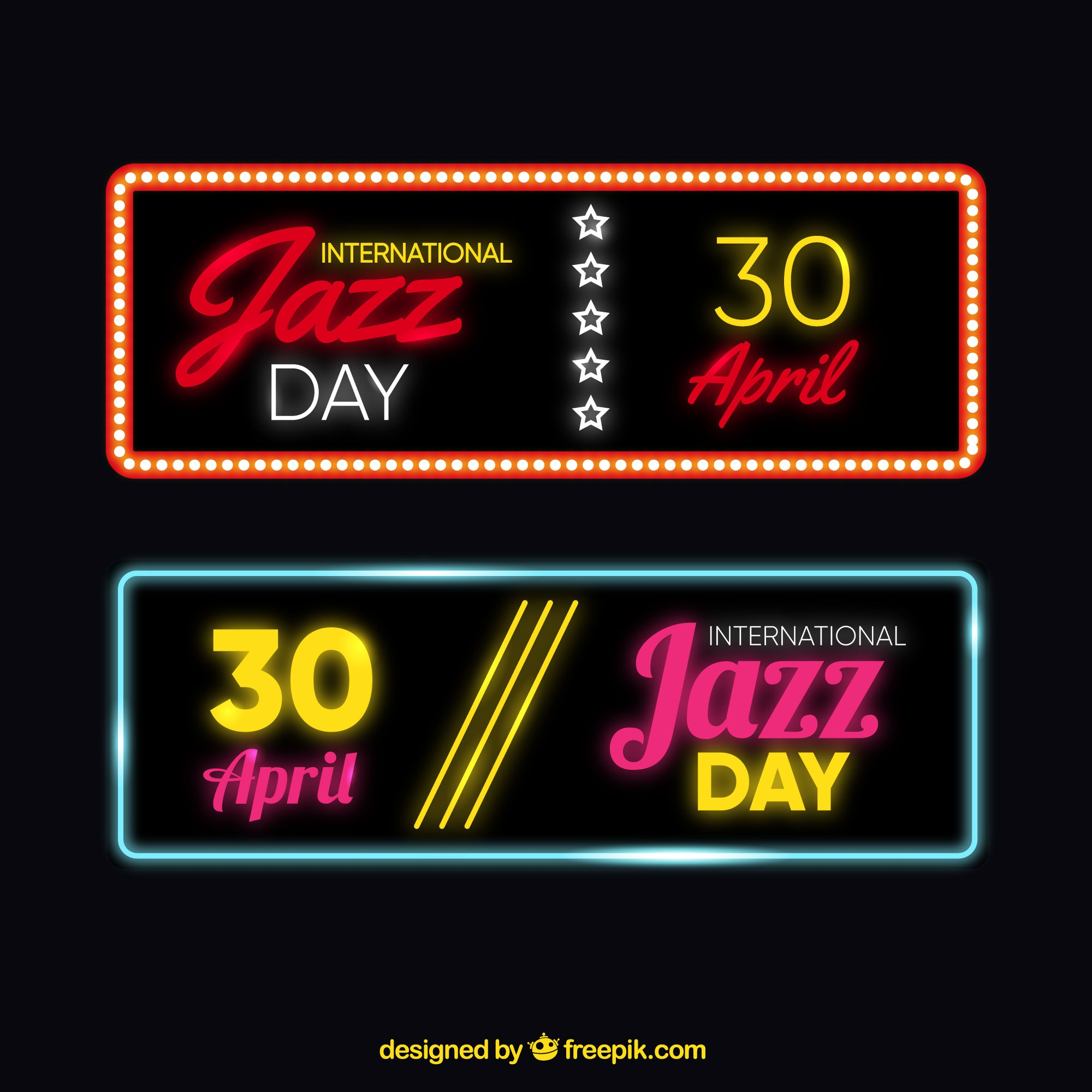 Bright jazz banners