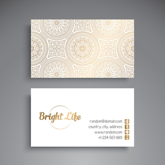 Bright luxury business card illustration