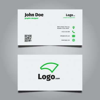 Bright Minimal Business Card Design