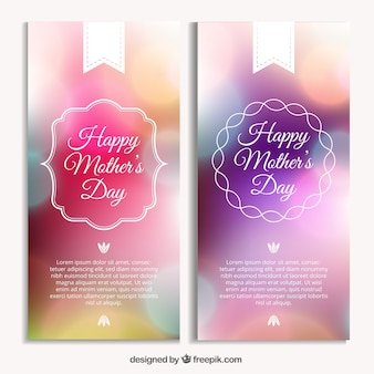 Bright mother's day banners