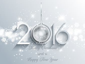 Bright new year background in white color