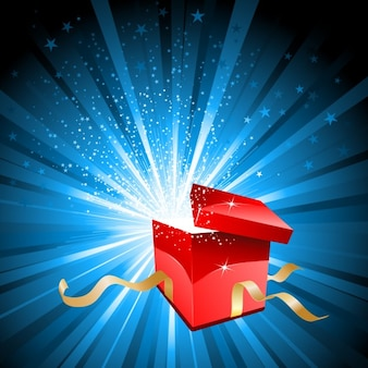 Bright open gift background
