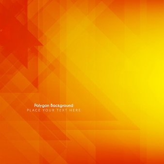 Bright polygonal shape background in orange color
