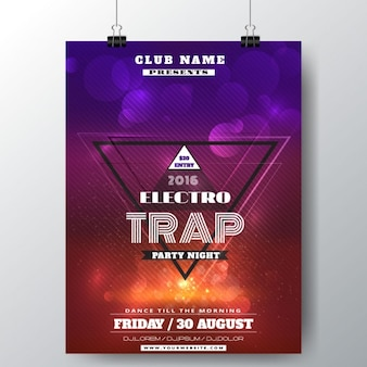 Bright poster for a music festival