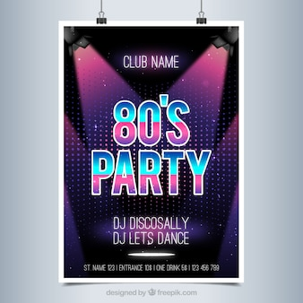 Bright poster for a party disco