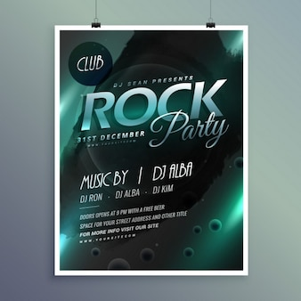 Bright poster for a rock party