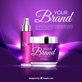Bright purple cosmetics background
