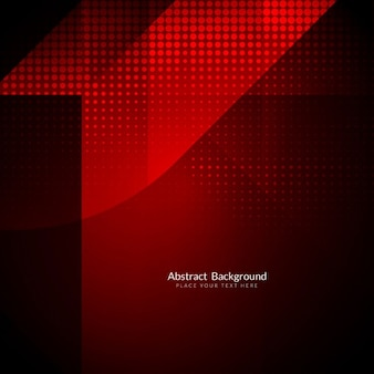 Bright red background with geometric shapes