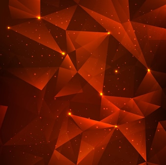 Bright red polygonal background