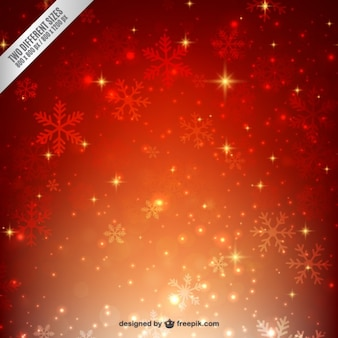 Bright snowflakes background in warm tones
