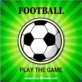 Bright soccer ball