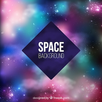 Bright space background