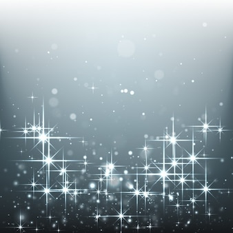 Bright stars on a silver background
