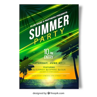 Bright summer party brochure