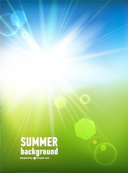 Bright sun ray