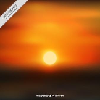 Bright sun with background in orange tones