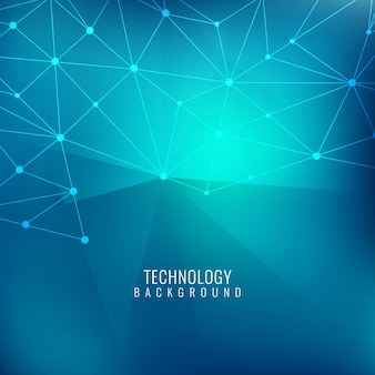 Bright technological blue background