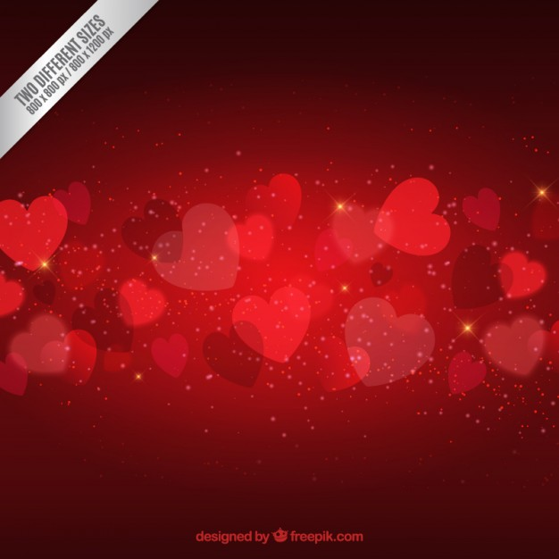 Bright valentines day hearts background