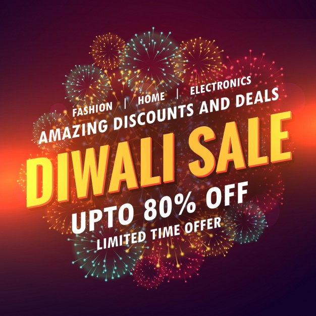 Bright voucher for diwali