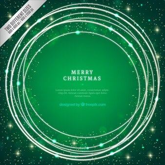 Brights christmas background in green tones