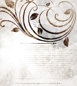 Brochure beauty chandelier floral pattern