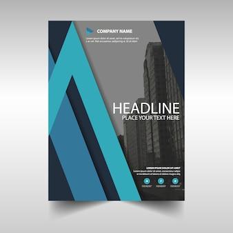Brochure, blue theme