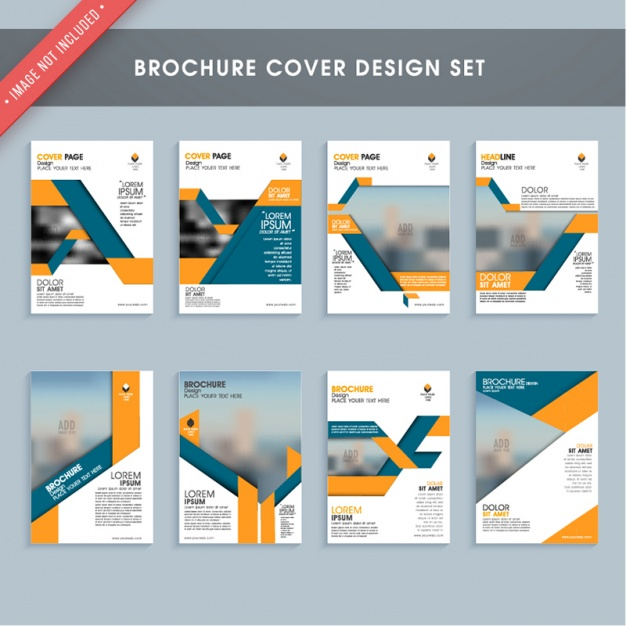 Brochure cover design collection